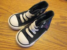 Converse All Star Chuck Taylor sz 5 black & white stretch lace canvas high tops