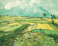 Oil painting Vincent Van Gogh - Wheat Fields at Auvers Under Clouded Sky canvas