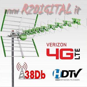ANTENNA TV ESTERNA DVB-T DIGITALE TERRESTRE DVB-T2 ULTRA POTENTE ALTA RICEZIONE