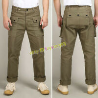 Replica US Army WWII USMC P44 Trousers Men's Vintage Overalls Casual Work Pants