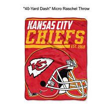 "NFL Kansas City Chiefs 40-Yard Dash Micro Raschel Throw Blanket 40"" x 60"""