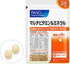 FANCL Multi-vitamin and mineral About 30 days 180 tablets Free Shipping!!