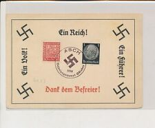 LM08458 Germany 1938 Reich postcard with nice cancels used