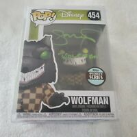 "GLENN WALTERS WOLFMAN ""NIGHTMARE BEFORE CHRISTMAS"" SIGNED FUNKO POP beckett coa"