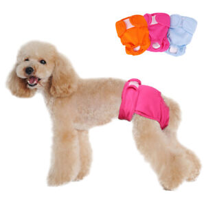 Female Girl Dog Sanitary Pants Mesh Padded Pet Physiological Menstrual Diaper