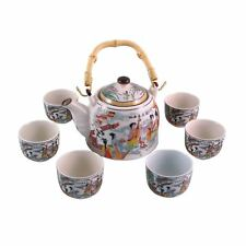 More details for chinese tea set - white ceramic - traditional musicians - gift box