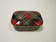 Fitz & Floyd Country Plaid Rectangular Trinket Box