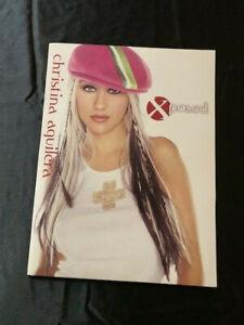 CHRISTINA AGUILERA 2003 XTINA XPOSED FAN CLUB XPLICIT NEWSLETTER ISSUE #1 FOLDER