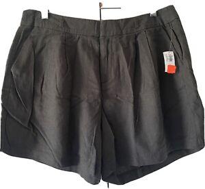 """NWT Old Navy Womens Black Linen Blend Summer Dress Shorts Size 8 32"""" Waist"""