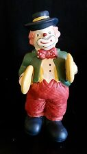 Vintage Hand Painted Ceramic Circus Clown Playing Cymbals