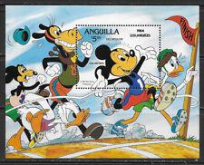 ANGUILLA ,1984 OLYMPICS , SPORTS , SOUVENIR SHEET PERF , MNH , CV$15
