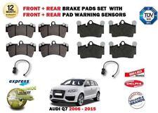 Para Audi Q7 4L 2006-2015 Parte Delantera + Juego de Pastillas Frenos Traseros +