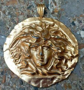 Vintage Sphinx MEDUSA Head Pendant