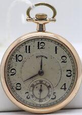 1915 Antique - Runner - Jb330 Illinois Pocket Watch 12 Size 17 Jewel