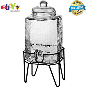 Hamburg 1.5 Gallon Beverage Dispenser & Stand NEW US, FAST DELIVERY