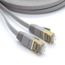 Flat RJ45 CAT7 Network LAN Ethernet SSTP 10Gbps Gigabit Patch Cable 1m - 5m LOT