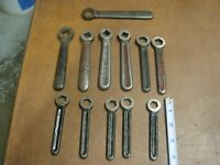 "11 Vintage Antique Acetylene 1/2"" Square Hole Cylinder Wrench Welding Tool Lot"