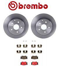 For Lexus HS250h Toyota RAV Rear Disc Brake Coat Rotors Ceramic Pads Kit Brembo