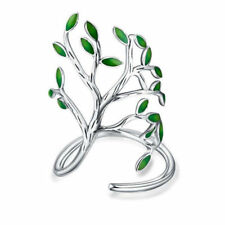 925 Sterling Silver Enamel Tree Of Life Handmade Rings For Women Girl Gifts