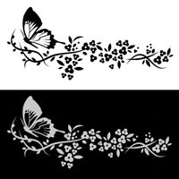 1x Flying Butterfly Flower Car Sticker Hot Useful Truck Door Window Decal Decor