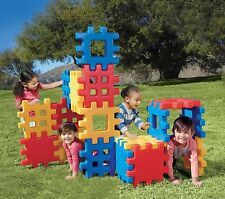 Big Waffle Building Block Set Toddler Indoor Outdoor Play House Large 18pc New