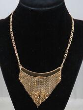 Jessica Simpson Goldtone LIQUID METAL Chain Fringe Necklace $58
