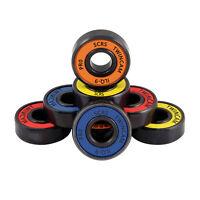 8X ABEC 7 Skateboard Longboard 608ZZ Skate Roller Hocker Wheel Steel Bearings~