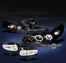 1999-2004 FORD MUSTANG HALO BLACK PROJECTOR HEAD LIGHTS+FOG 2000 2001 2002 2003
