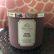 White Barn WINE CELLAR 3-Wick Candle RARE From Bath Body Works