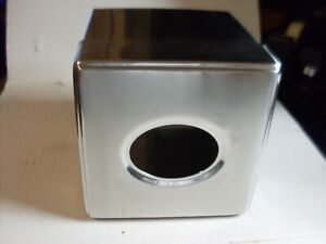 Square Stainless Steel Commercial Facial Tissue Box NEW