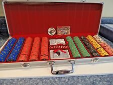 Nevada Jack aluminum case 500 clay chips New w/sealed cards and dice.