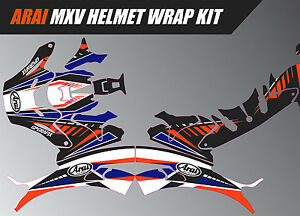 ARAI MXV HELMET WRAP GRAPHICS KIT