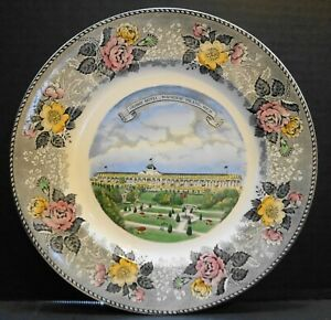 Jonroth Adams Multicolor Transferware Mackinac Island Souvenir Plate