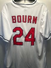 Cleveland Indians Michael Bourn Home White #24 Sga Button Down Jersey - Size Xl