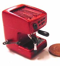 1:12 Scale Dolls House Cafe Kitchen Drink Accessory Red Resin Coffee Machine