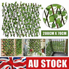 2M Trellis Artificial Ivy Leaf Fence Wall Expanding Long UV Protected Garden