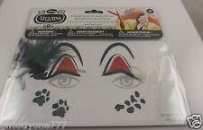 Face tattoos body art skin Halloween Cruella De Ville  eyes glitter Villain