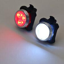 Wiederaufladbar LED Fahrrad Lampe Set Frontlicht Rücklicht Fahrradbeleuchtung