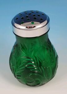 LG Wright SPRUCE GREEN Color Thistle Pattern Sugar Cheese Shaker