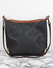 MULBERRY Vintage Scotchgrain & Tan Leather Satchel Shopper Shoulder Bag