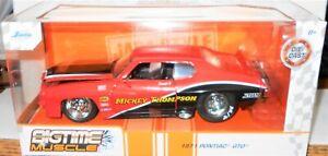 NEW 2021 Jada Big Time Muscle  *1971 PONTIAC GTO*  Mickey Thompson  1:24 Scale