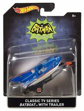 2016 Hot Wheels 1/50 Classic TV Series Batboat with Trailer Diecast Vehicle