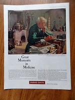 1960 Parke Davis Ad Great Moments in Medicine Swiss Born Paracelsus Laboratories
