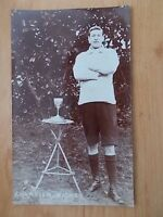 VINTAGE 1909 POSTCARD - CHAMPION WALKER WITH TROPHY  - CHARD - SOMERSET  RP