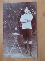 VINTAGE 1909 POSTCARD - CHAMPION WALKER WITH TROPHY  - CHARD - SOMERSET  RP