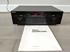 Sony Tc-Wr901Es Dual Stereo Cassette Tape Deck Player + Manual + Remote