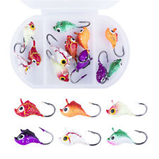 Goture Ice Fishing Jigs Lead Fish Hook Size 10 12 5 Colors Ice Lures 12pcs/lot
