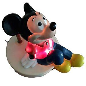 Vintage Walt Disney Mickey Mouse Table Desk Lamp & Night Light - No Shade
