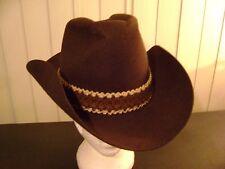 Men's 100% Wool Range Rider Cowboy Hat Size 7 1/2