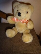"Antique 8"" tall Teddy Bear Movable Arms Legs Hard Body glass Eyes Cute no tags"